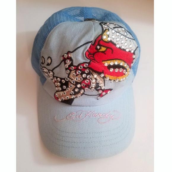 Hardy Logo Hat Visor Lt Blue GREAT NEW